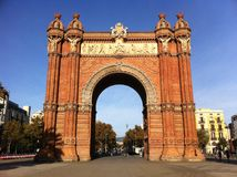 Arc de Triomf, Barcelona Lizenzfreies Stockfoto