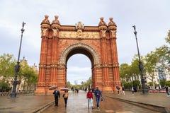 Arc de Triomf, Barcelona Stockfotos