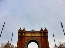 Arc de Triomf, Barcelona. Spain Stock Images