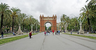 Arc De Triomf, Barcelona Stock Photo
