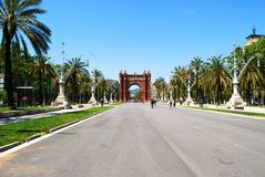 The Arc de Triomf in Barcelona. As an Arch of Triumph Stock Images