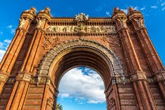 Arc de Triomf - Barcelona, Catalonia, Spain. Europe Stock Photography