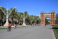 Arc de Triomf, Barcelona, Catalunya, Spain. August 2012 Stock Photo