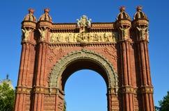 Arc de Triomf - Barcelona. Arc de Triomf in the city of Barcelona, Spain Stock Photo