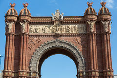 The Arc de Triomf in Barcelona. Close-up of Barcelona's Arc de Triomf Royalty Free Stock Photography