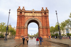 Arc de Triomf, Barcelona Stock Photos