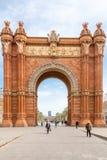 Arc de Triomf fotografía de archivo