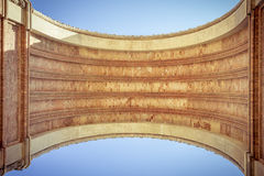 Arc de triomf, barcelona. Extreme worm's eye view Stock Images