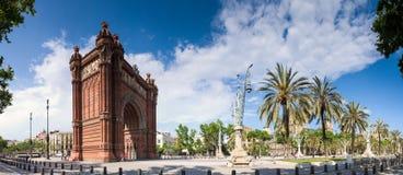 Arc de Triomf - Barcelona. Arc de Triomf the grand entrance to Parc de la Ciutadella in Barcelona designed and built by Domenech i Montaner in 1888 Royalty Free Stock Image