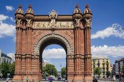 Arc de Triomf,  Barcelona. Popular triumphal arch in Spain, Barcelona Stock Images