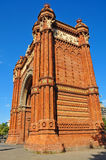 Arc de Triomf in Barcelona, Spain Stock Photo
