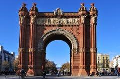 Arc de Triomf in Barcelona, Spain. BARCELONA, SPAIN - DECEMBER 18: Arc de Triomf on December 18, 2011 in Barcelona, Spain. Designed by Josep Vilaseca, it was Stock Image