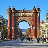 Arc de Triomf in Barcelona, Spain Royalty Free Stock Photos