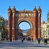 Arc de Triomf in Barcelona, Spain. BARCELONA, SPAIN - DECEMBER 18: Arc de Triomf on December 18, 2011 in Barcelona, Spain. Designed by Josep Vilaseca, it was Royalty Free Stock Photos