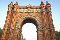 Arc de Triomf. In barcelona spain Royalty Free Stock Photo