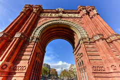 Arc de Triomf - Barcelona, Spain. The Arc de Triomf in Barcelona, Spain Royalty Free Stock Images