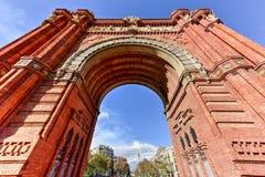 Arc de Triomf - Barcelona, Spain. The Arc de Triomf in Barcelona, Spain Stock Image