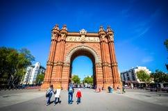 Arc de Triomf in Barcelona Stock Photography