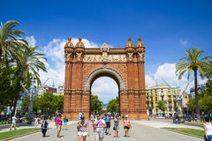 Arc de Triomf in Barcelona, Spain. Designed by Josep Vilaseca, it was built for the 1888 Universal Exposition as its main access gate Royalty Free Stock Photography