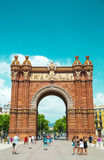 Arc de Triomf in Barcelona, Spain. Designed by Josep Vilaseca, it was built for the 1888 Universal Exposition as its main access gate Stock Photos