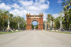 Arc de Triomf in Barcelona, Spain. Designed by Josep Vilaseca, it was built for the 1888 Universal Exposition as its main access gate Stock Images