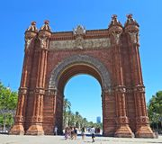 Arc de Triomf, Barcelona, Spain Royalty Free Stock Image
