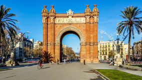 Arc de Triomf, Barcelona, Spain Stock Image