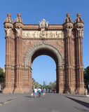 Arc de Triomf. BARCELONA, SPAIN - JULY 8, 2015: Arc de Triomf at the end of a promenade leading to the Parc de la Ciutadella in Barcelona Stock Photography