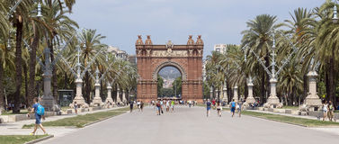 Arc de Triomf Royalty Free Stock Photos