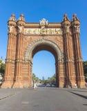 Arc de Triomf. BARCELONA, SPAIN - JULY 8, 2015: Arc de Triomf at the end of a promenade leading to the Parc de la Ciutadella in Barcelona Stock Image
