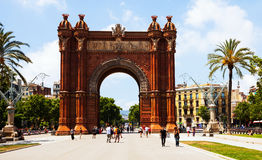 Arc de Triomf   in Barcelona Stock Photos
