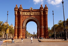 Arc De Triomf,  Barcelona,  Spain Stock Photo