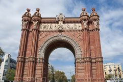 Arc de Triomf in Barcelona, Spain, September 2016. Arc de Triomf in Barcelona, Spain, on September 2016 Stock Images