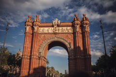 The Arc de Triomf in Barcelona, Spain. Traveling in Europe. Stock Image