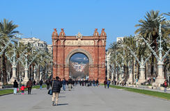 Arc de Triomf - Barcelona, Spain Stock Image