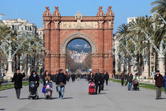 Arc de Triomf - Barcelona, Spain Royalty Free Stock Photo