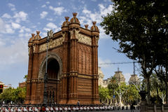 Arc de Triomf in Barcelona, Spain. It was built for the 1888 Universal exhibition, as its main access gate by architect Josep Vilaseca i Casanovas Stock Image