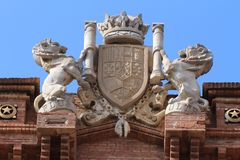 Arc de Triomf, Barcelona, Spanien Lizenzfreie Stockfotos