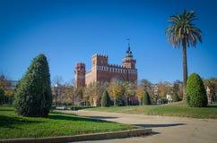 Ciutadella Park, Barcelona. Ciutadella Park with castle building, Barcelona stock image