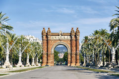 Arc de Triomf in Barcelona. Triumph Arch, Arc de Triomf in Barcelona, Spain Royalty Free Stock Image