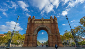 Arc de Triomf in Barcelona. Arc de Triomf - Triumph Arch - in Barcelona, Spain Royalty Free Stock Images