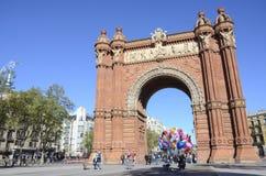 Arc de triomf, Barcelona. Triumph Arc, Arc de Triomf in Barcelona, Spain Royalty Free Stock Image