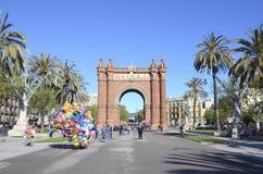 Arc de triomf, Barcelona. Triumph Arc, Arc de Triomf in Barcelona, Spain Royalty Free Stock Images