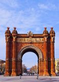 Arc de Triomf in Barcelona. Arc de Triomf - Triumphal Arch in Barcelona, Catalonia, Spain Stock Image