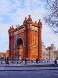 Arc de Triomf in Barcelona. Arc de Triomf - Triumphal Arch in Barcelona, Catalonia, Spain Royalty Free Stock Photography