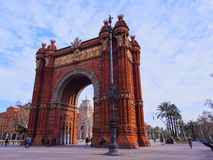 Arc de Triomf in Barcelona. Arc de Triomf - Triumphal Arch in Barcelona, Catalonia, Spain Royalty Free Stock Images