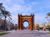 Arc de Triomf in Barcelona. Arc de Triomf - Triumphal Arch in Barcelona, Catalonia, Spain Royalty Free Stock Image