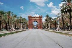 Arc de Triomf in Barcelona. Under blue sky Stock Image