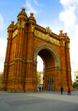 Arc de Triomf in Barcelona. Arc de Triomf view in Barcelona Stock Photography