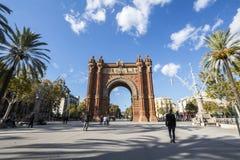 Arc de Triomf, Barcelone, Ισπανία Στοκ Φωτογραφίες